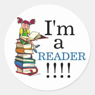 I'M A READER Sticker