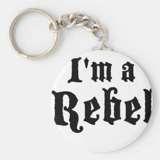I'm a rebel basic round button keychain