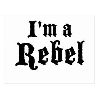 I'm a rebel postcard