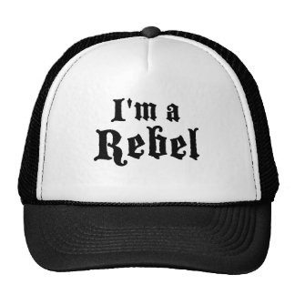 I'm a rebel trucker hat