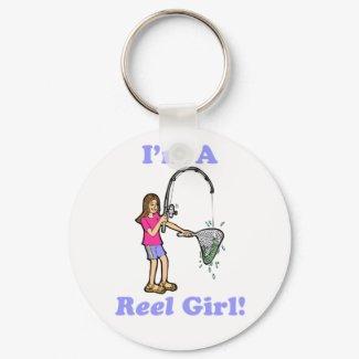 I'm A Reel Girl Keychain keychain