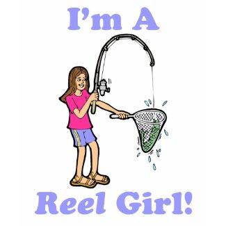I'm A Reel Girl Kid's T-Shirt shirt