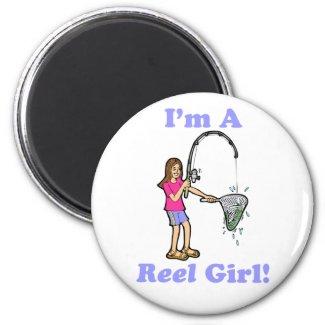 I'm A Reel Girl Magnet magnet