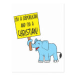 I'm a Republican and a Christian Post Cards
