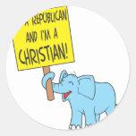 I'm a Republican and a Christian Sticker