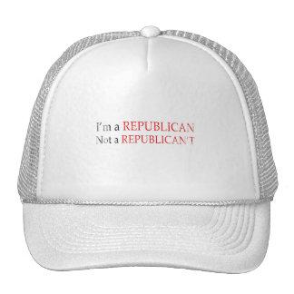I'm a republican not a republican't Faded.png Hats
