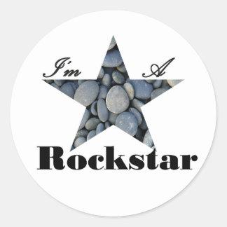I'M A Rockstar Classic Round Sticker