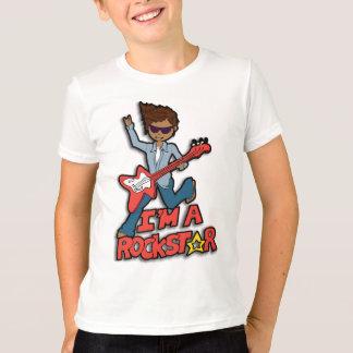 I'm a rockstar guitar dark hair boys t-shirt