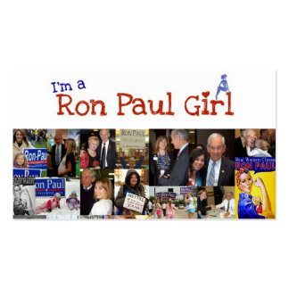 I'm a Ron paul girl Business Card