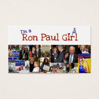 I'm a Ron paul girl Business Card