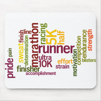 I'm a Runner Words Mouse Pad