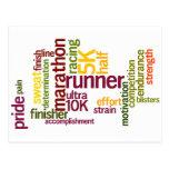 I'm a Runner Words Postcard