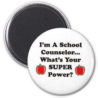 I'm a School Counselor 2 Inch Round Magnet
