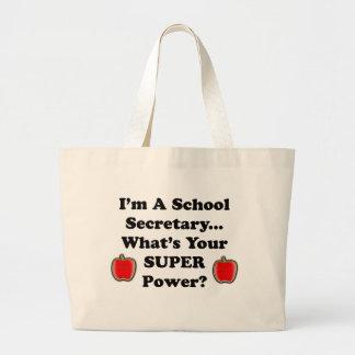 I'm a School Secretary Tote Bags