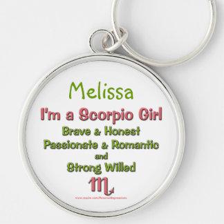 I'm a Scorpio Girl Personalized Zodiac Keychain