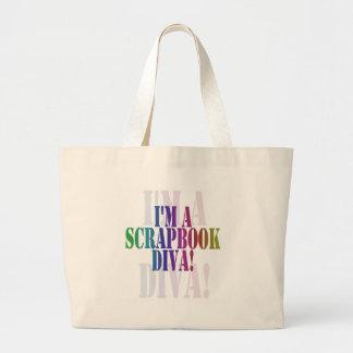 I'm a scrapbook diva unioneight union+eight peacoc large tote bag