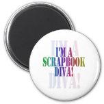 I'm a scrapbook diva unioneight union+eight peacoc refrigerator magnet