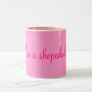 I'm a shopaholic! Two-Tone coffee mug