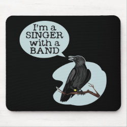 Mousepad with Singer With A Band design