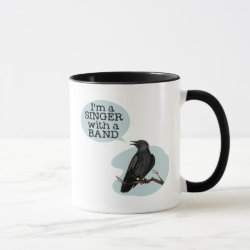 Ringer Combo Mug with Singer With A Band design
