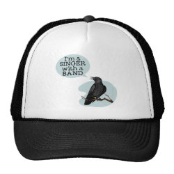 Trucker Hat with Singer With A Band design