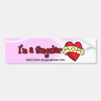 I'm a singular mom ($4) bumper sticker