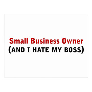 I'm a small business owner postcard