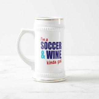 I'm A Soccer & Wine Kinda Gal Beer Stein