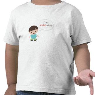 I'm a Social Toddler Boy Speech Bubble T Shirt