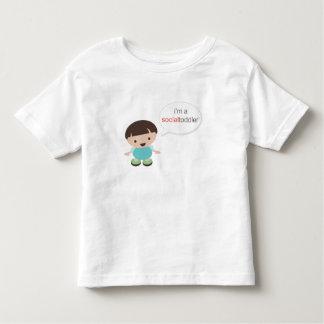 I'm a Social Toddler Boy Speech Bubble Toddler T-shirt
