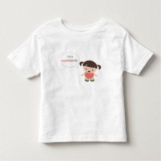 I'm a Social Toddler Girl Speech Bubble Toddler T-shirt