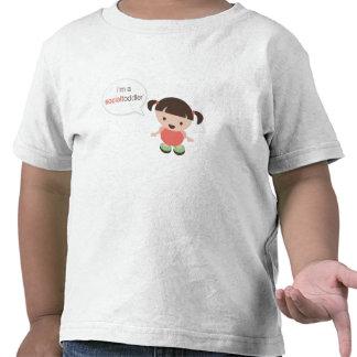 I'm a Social Toddler Girl Speech Bubble Tshirts
