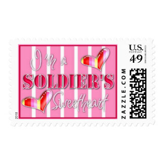 """I'm A Soldiers Sweetheart"" Postage"