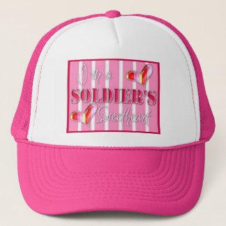 """I'm A Soldiers Sweetheart"" Trucker Hat"