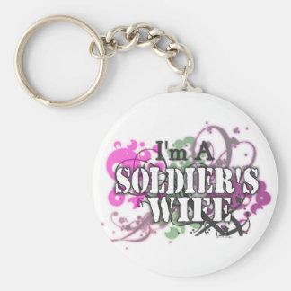 I'm a Soldier's Wife Basic Round Button Keychain