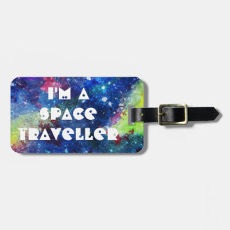 I'm a space traveller spatial galaxy painting luggage tag