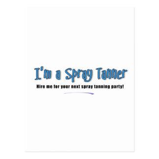I'm a Spray Tanner Postcard