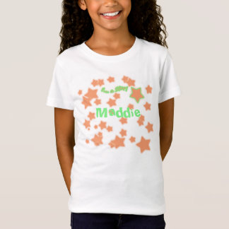 I'm a Star! Orange and Green Starry Name shirt