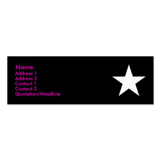 I'm a Star! (Pink/Black/White) Double-Sided Mini Business Cards (Pack Of 20)