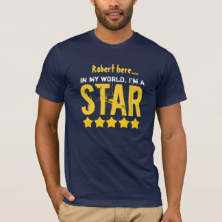 I'm a STAR with Row of Stars Custom Name V30J T-Shirt