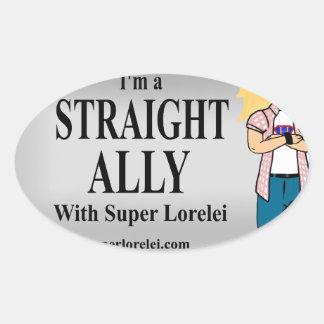 I'm a Straight Ally Oval Sticker