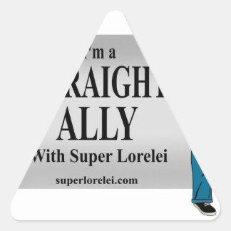 I'm a Straight Ally Triangle Sticker