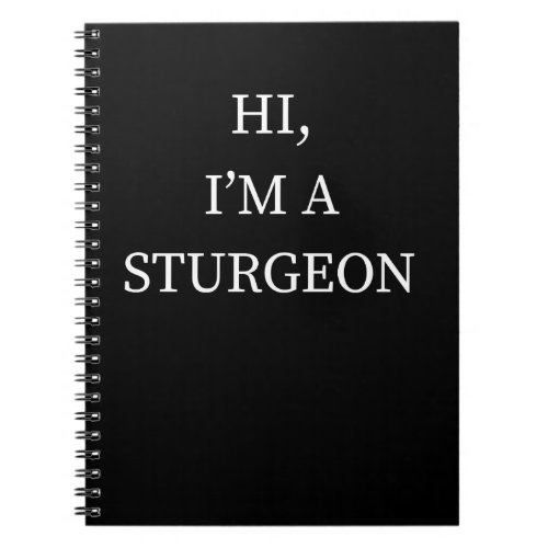 I&#39&#x3B;m A Sturgeon Halloween Funny Last Minute Costume Notebook