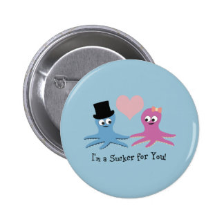 I'm a sucker for you! Cute Octopi Buttons
