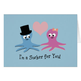 I'm a sucker for you! Cute Octopi Stationery Note Card
