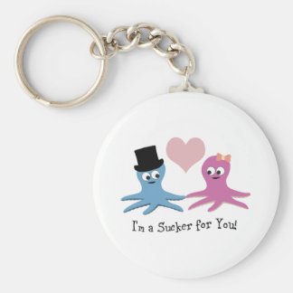 I'm a sucker for you! Cute Octopi Keychain