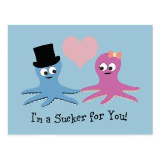 I'm a sucker for you! Cute Octopi Postcard