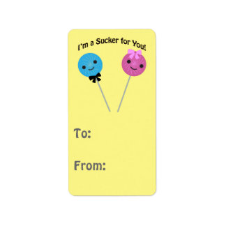 I'm a sucker for you! label