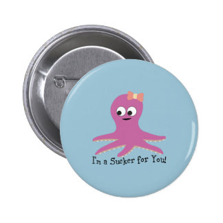 I'm a sucker for you! Pink Octopus Pins