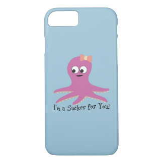 I'm a sucker for you! Pink Octopus iPhone 7 Case